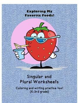 Singular and Plural Worksheets - Food