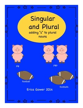 "Singular and Plural- add  's"""