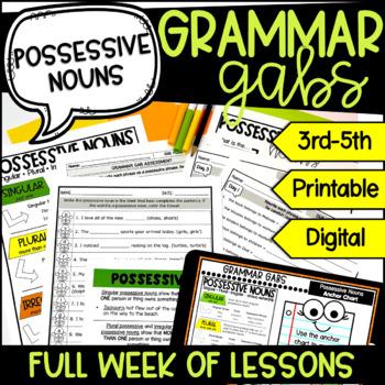 Singular and Possessive Nouns: Language Skills Daily Quick Check