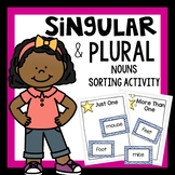 Singular and plural nouns sorting activity that includes a