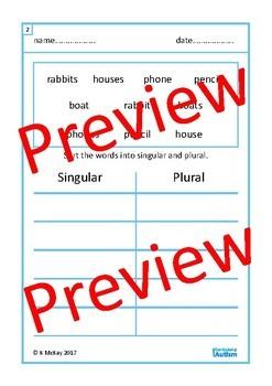 Singular Plural BUNDLE Autism Special Education Speech