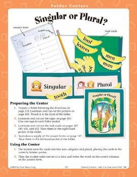 Singular or Plural? (File Folder Center)