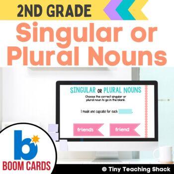 Singular or Plural Noun Boom Cards Distance Learning