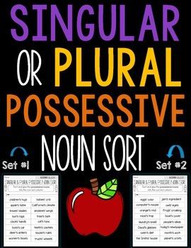 Singular or Plural Possessive Noun Sort