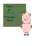 Singular or Plural Possessive Nouns Game
