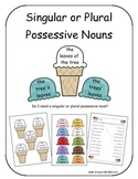 Singular or Plural Possessive Nouns ( Ice Cream Cones)