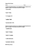 Singular to Plural Practice Worksheet - Beginner Level Latin