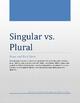 Singular vs. Plural Noun and Verb Sorts
