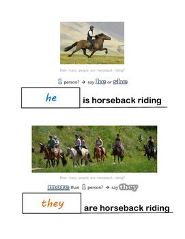 Singular vs. Plural Pronouns Worksheet HE/SHE vs. THEY