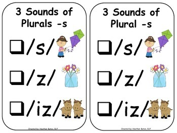 Singular/Plural Nouns and the 3 Sounds of Plural _s