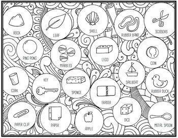 Sink & Float Seek & Sort Doodle Page and Card Sort