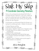 Sink My Ship! A Coordinate Geometry Adventure Pack