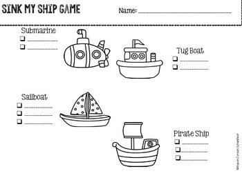 Sink My Ship- Cooperative Learning Phonics Game & Center