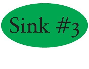 Sink Number Signs