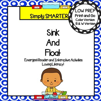 Sink and Float Emergent Reader Book AND Interactive Activities