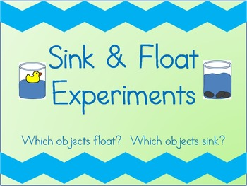 Sink and Float Experiment Worksheets
