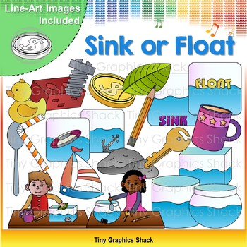 Sink and Float Science Clip Art