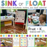 Sink and Float Science Inquiry Unit (PreK-K) Distance Learning