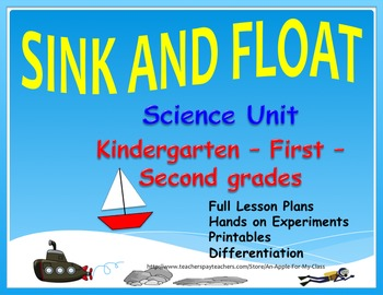 Sink and Float-Science/Literature Unit w/ Lesson Plans - K, 1st, and 2nd Grades