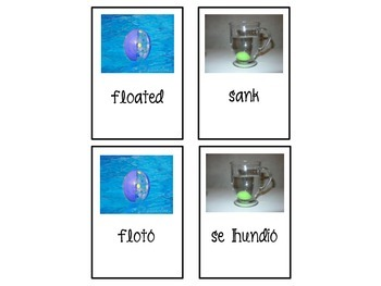 Sink or Float? (Spanish/English)