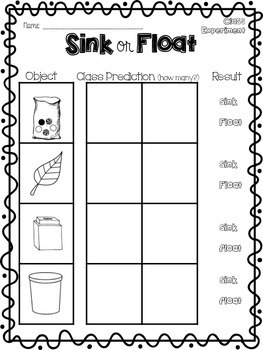 Sink or Float {Activities, Experiments, QR Codes}