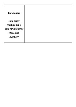Sink or Float Activity EDITABLE
