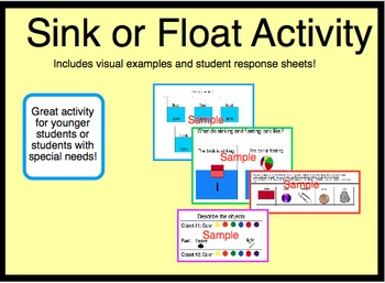 Sink or Float Activity -- Special Education Autism