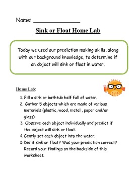 Sink or Float Classroom Lab