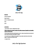 Sink or Float Egg Experiment- Instructions and Lab Sheet