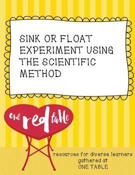 Sink or Float Experiment Using the Scientific Method