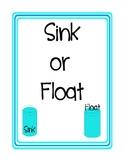 Sink or Float File Folder Game