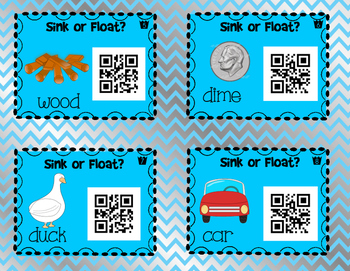 Sink or Float QR Code Task Cards