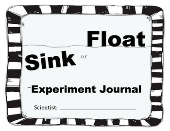 Sink or Float Science Experiment Journal