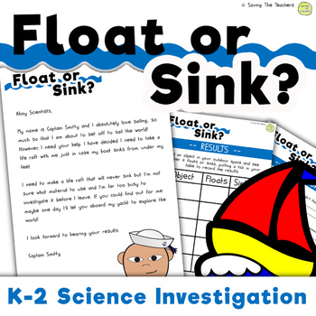 Sink or Float Science Investigation - Forces in Motion