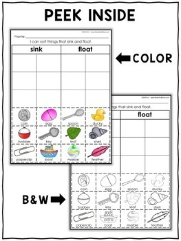 Interactive Sorting - Sink or Float Activity