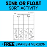 Sink or Float Sort Activity