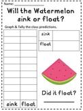 Sink or Float- Watermelon Science