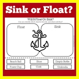 Sink or Float Worksheet Activity | Cut and Paste