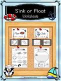 Sink or Float Worksheets