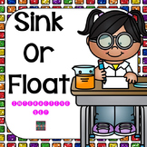 Sink Or Float Activity & Books for Science Centers (Special Education resource)