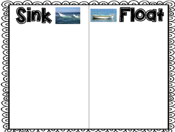 Sink or Float cut and paste