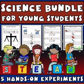 Science Bundle: Sink or Float, Magnetic, Body Part Hunt, Weigh & Measure