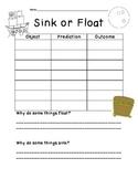 Sink or Float Observation Sheet