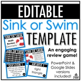 Sink or Swim Template | EDITABLE