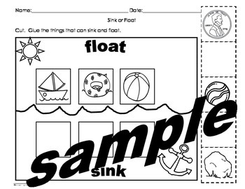 Sink or float activities pack English and Spanish cscope common core