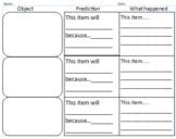 Sink or float prediction sheet
