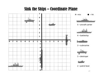 Sink the Ships - A Coordinate Graph Battleship Game by ...