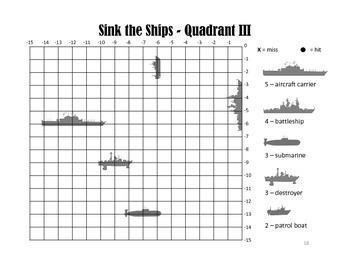 Sink the Ships - A Coordinate Graph Battleship Game