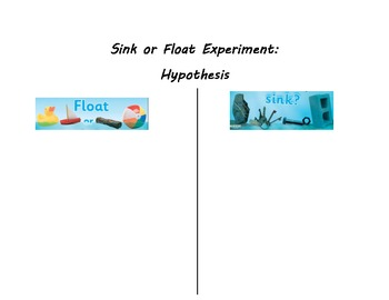 Sink vs. Float Science Experiment Sort