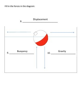 Sink/Float - Buoyancy/Density Assessment